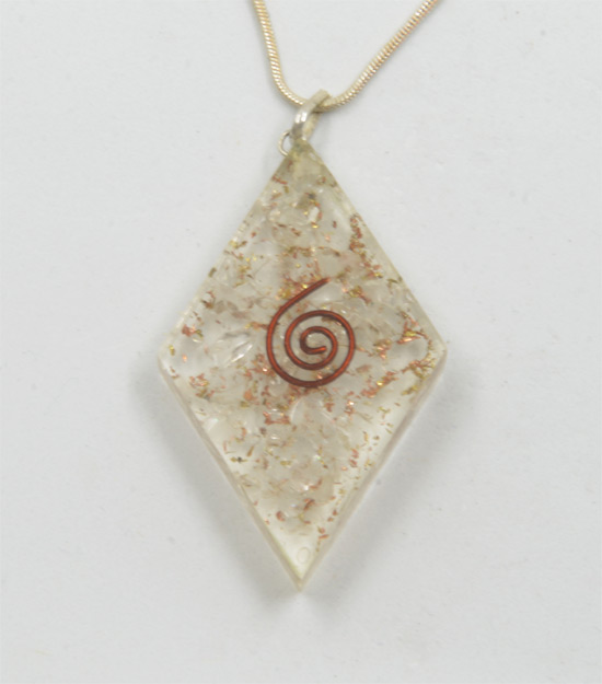 Organite necklace with copper
