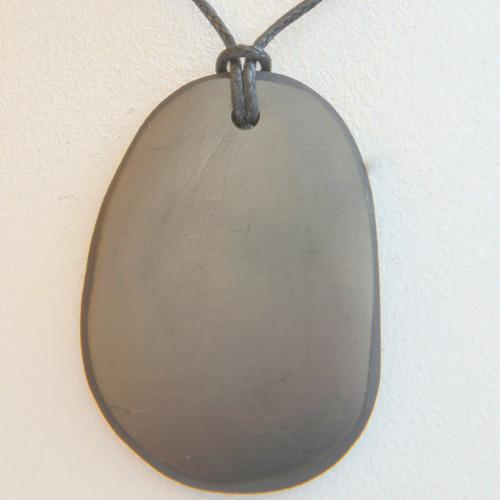 Slab Shungite pendant necklace