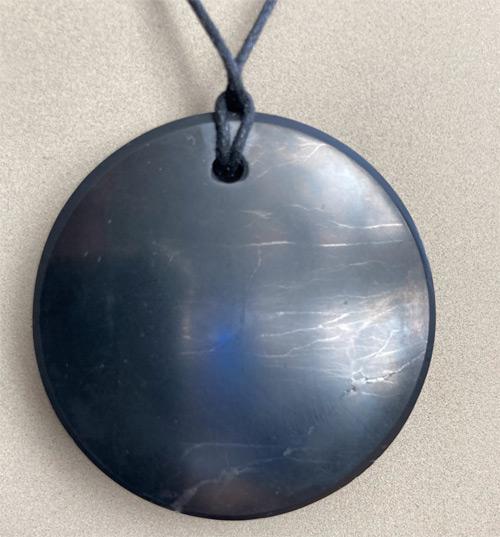 Circle Shungite necklace