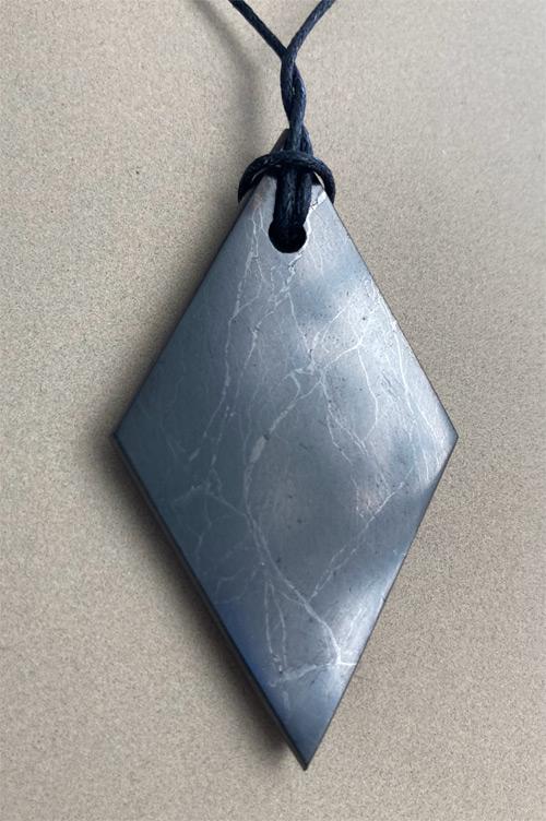 Shungite slab necklace