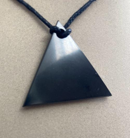 Triangle shungite pendant